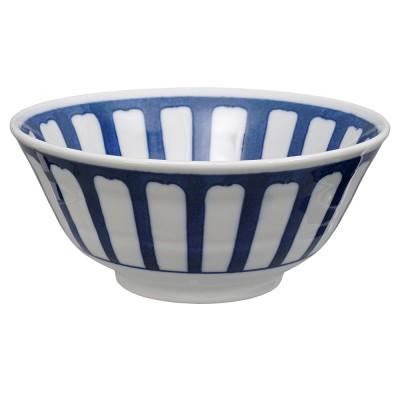 Speiseschale 'weiß-blau'