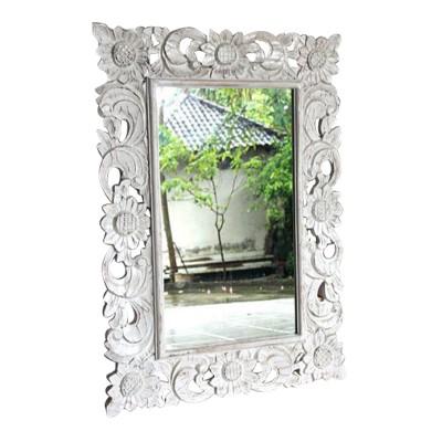Spiegel mit Holzrahmen Sonnenblume