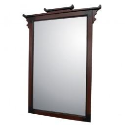 Spiegel mit Holzrahmen im japanischen Design
