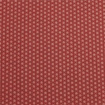 Japanstoff Asanoha rot