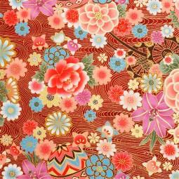 Japanstoff Blumenwagen