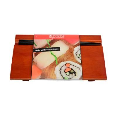 Sushi Geta mit Essstäbchen Set