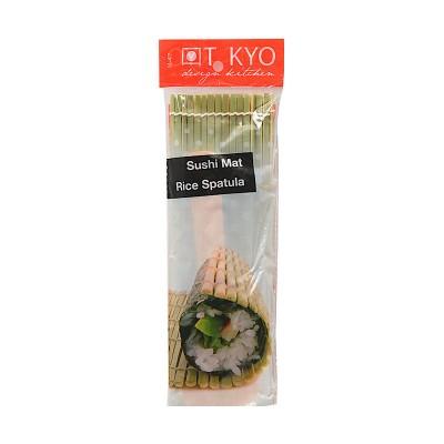 Sushi-Matte mit Löffel