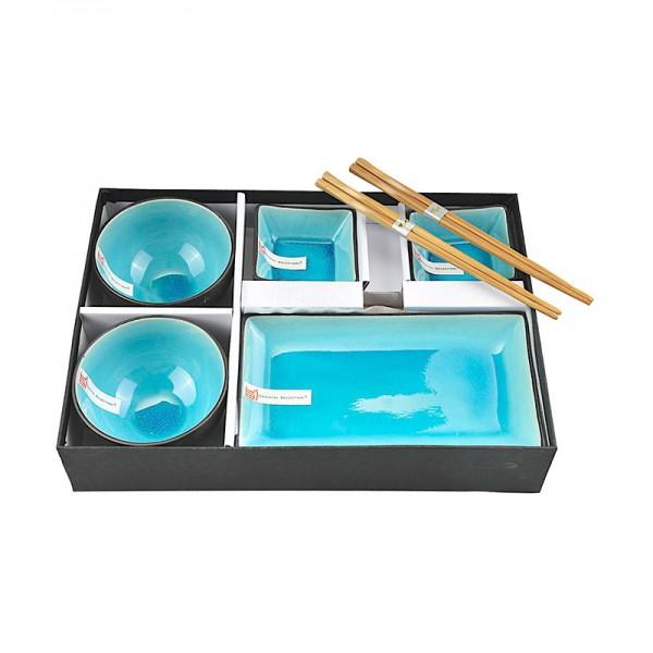 sushi set 39 t rkise serie 39 sushi japanische k che japanwelt. Black Bedroom Furniture Sets. Home Design Ideas
