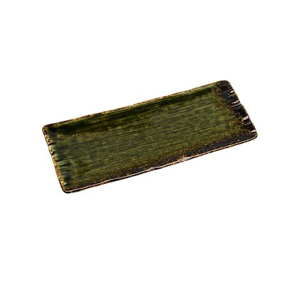 Sushiteller 'Grüne Oribe' groß