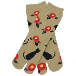 Tabi-Socken - Kuroneko beige