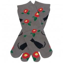 Tabi-Socken - Kuroneko grau