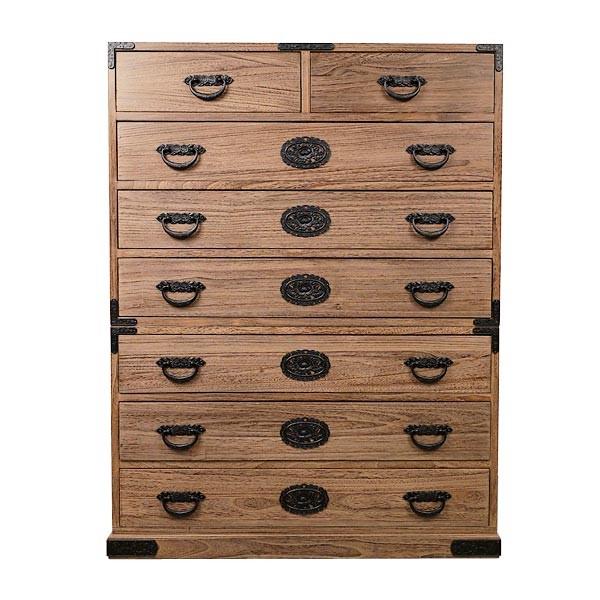 tansu schubladen schrank aus kiriholz hoch mit beschl gen tansu kommoden wohnen japanwelt. Black Bedroom Furniture Sets. Home Design Ideas