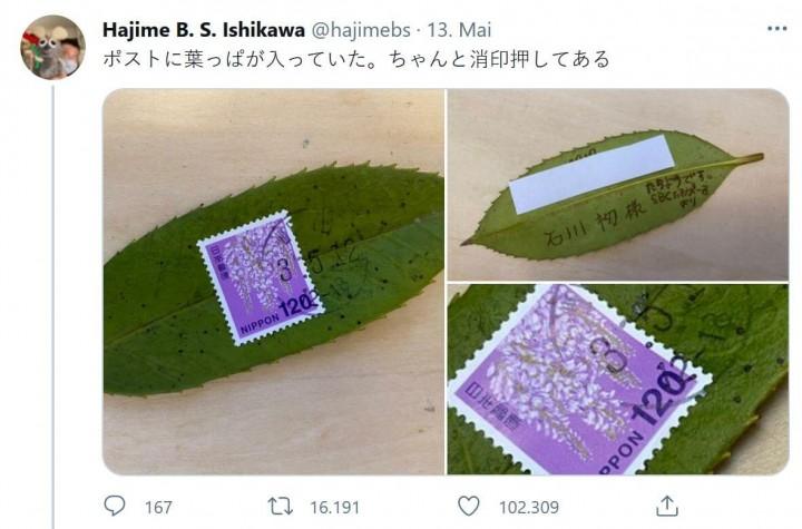 Mit der japanischen Post Stechpalmenblätter unbeschadet verschicken