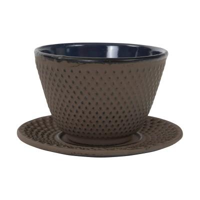 Tasse mit Unterteller 'Arare' aus Gusseisen