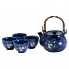 Tee-Set - Sakura Blau