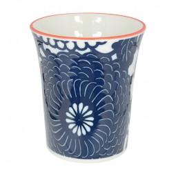 Teebecher 'Indigo - Kiku blau' 8,2x9,3cm