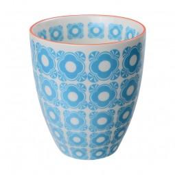 Teebecher 'Nanairo – Hakkakushokko blau' 8,7x9,8cm