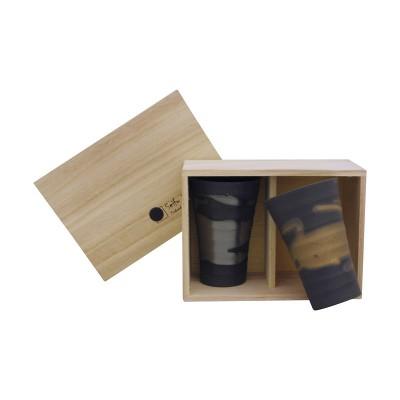 Teebecher Set - Kingin Nagashi im Holzkasten L - 2er Set