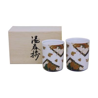 Teebecher Set (Meoto) - Tsuru kame im Holzkasten - 2er Set