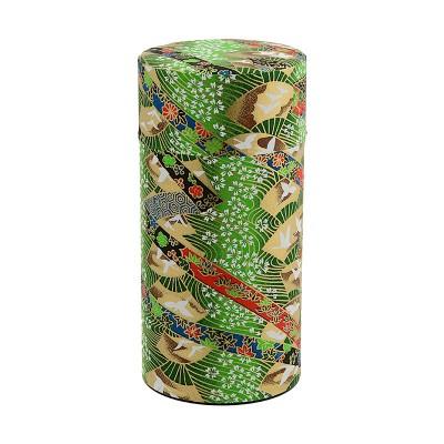 Teedose 'Hana Sensu Grün' für 200g Tee