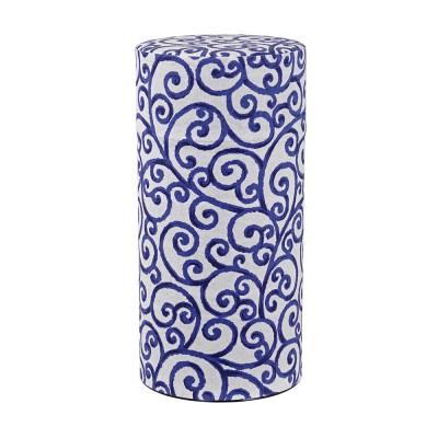Teedose mit Muster in blau