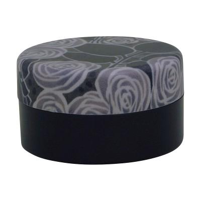 Teedose - Rose schwarz L