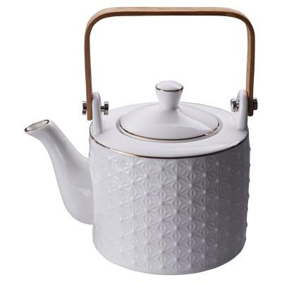 Teekanne - Japan weiß - Asanoha