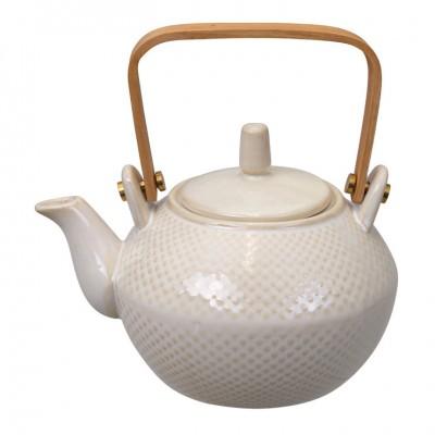 Teekanne 'Struktur - Mizutama - weiß' 0,8l