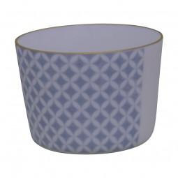 Teeschale - Asanoha blau
