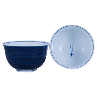 Teeschale Matsuba blau