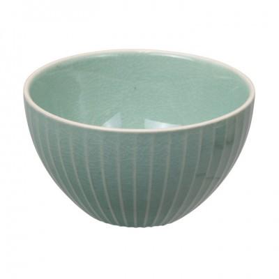 Teeschale 'Struktur - Shimagara - türkis' 9cm