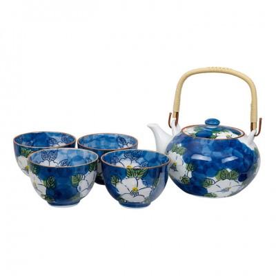Teeset Arita Blauer Jasmin - 1 Kanne 750ml, 4 Tassen