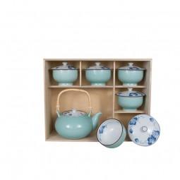 Teeset - Budo mit Deckel im Holzkasten