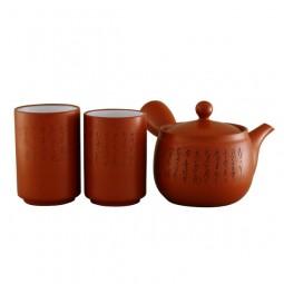 Teeset - Tokoname - 2 Paar Teebecher + Kanne