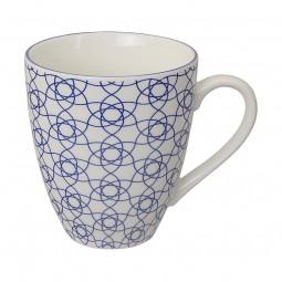 Teetasse 'Japan Blau – Kagome Hana' groß 8,7x9,8cm