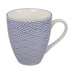 Teetasse 'Japan Blau – Seigaiha' groß 8,7x9,8cm