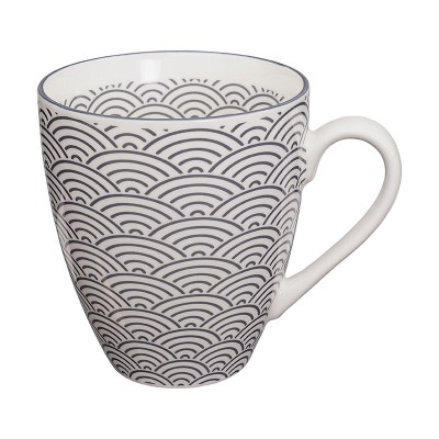 Teetasse - Japan Grau - Seigaiha