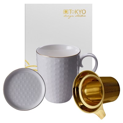 Teetassen-Set - Japan weiß