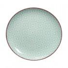 Teller 16 cm 'Kidowaku - Hiratsume Sanmasu' grün