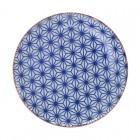 Teller 'Asanoha Seigaiha – Dunkelblau'
