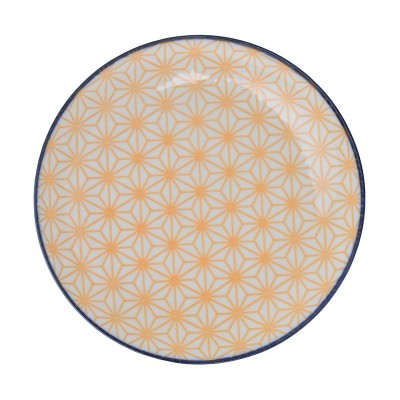Teller 'Asanoha Seigaiha – Gelb'
