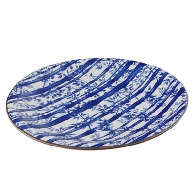 Teller - Blauer Bambus