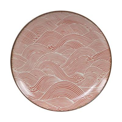 Teller 'Burashi aka - Nami' Rot 25cm