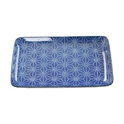 Teller 'Japan Blau – Asanhoa' 21x13,5cm rechteckig
