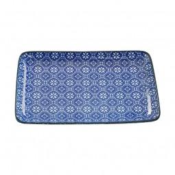 Teller 'Japan Blau – Hakkakushokko' 21x13,5cm rechteckig