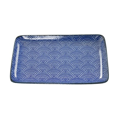 Teller 'Japan Blau – Samekomon' 21x13,5cm rechteckig