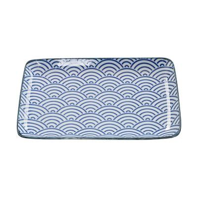 Teller 'Japan Blau – Seigaiha' 21x13,5cm rechteckig