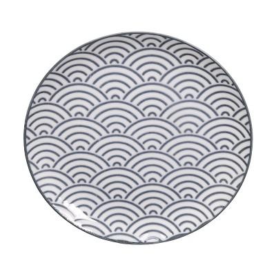 Teller - Japan Grau - Seigaiha 16cm