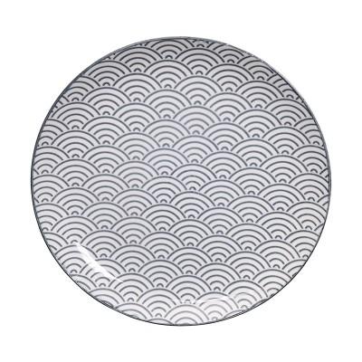 Teller - Japan Grau - Seigaiha 25,7cm