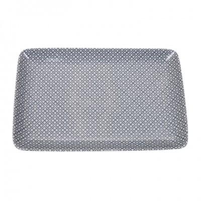 Teller - Japan Grau - Tagadabishi 21x13,5cm rechteckig