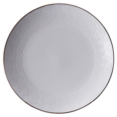 Teller - Japan Weiß Seigaiha