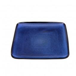 Teller 'Kobaltblau' quadratisch