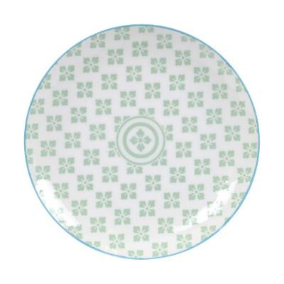 Teller 'Nanairo - Hana grün' 16cm