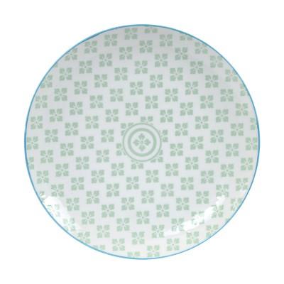 Teller 'Nanairo - Hana grün' 25,7cm